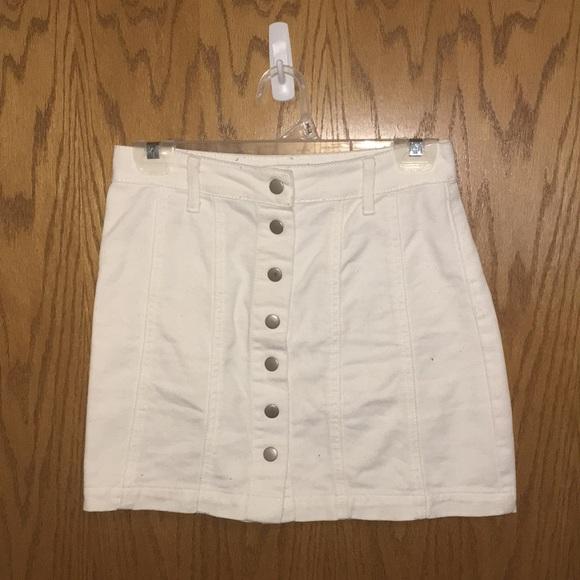 7f75666cbee6 Forever 21 Skirts | White Denim Skirt | Poshmark